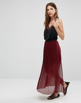 French Connection Cooper Sheer Pleat Maxi Skirt