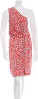 Diane von Furstenberg Silk One-Shoulder Printed Dress