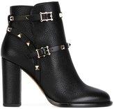 Valentino Garavani Valentino Rockstud boots - women - Leather/Metal (Other) - 35