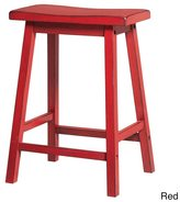 Acme Gaucho Antique Red Counter Height Stool (Set of 2)