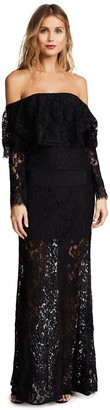 Ali & Jay Women's Soiree Off The Shoulder Lace Gown