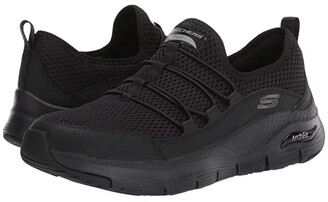 Skechers Arch Fit - Lucky Tho (Black) Women's Shoes