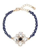 BaubleBar Navy Ice Clover Bracelet