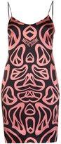 Moschino melting peace sign slip dress - women - Silk/Spandex/Elastane/Rayon - 38