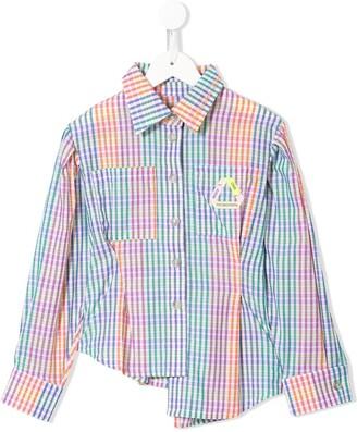 Natasha Zinko Kids Asymmetric Check Shirt