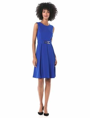 Nine West Women's Sleeveless Dress with Pleated Skirt