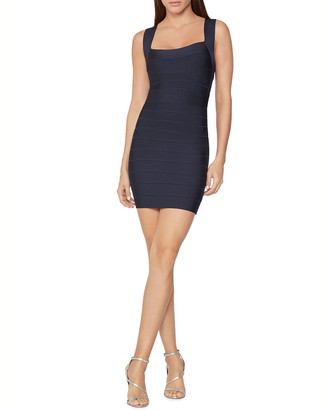 Herve Leger Bandage Knit Mini Cocktail Dress