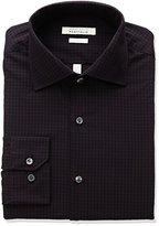 Perry Ellis Men's Slim Fit Wrinkle Free Gingham-Check Dress Shirt with Adjustable Collar