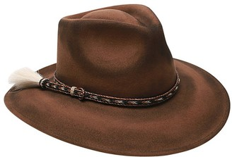 Ale By Alessandra Women's Roxy Dene Distressed Felt Hat with Horse Tail Trim - Brown - One Size