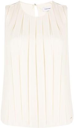 Calvin Klein Sleeveless Pleated Vest