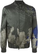 Emporio Armani watercolour print jacket - men - Polyester/Acetate - 50