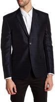 Versace Black Geo Two Button Notch Lapel Trim Fit Jacket