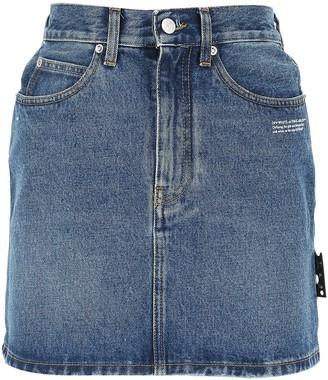Off-White Mini Denim Skirt