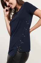 Dynamite T-Shirt With Side Lace Up