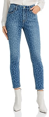 7 For All Mankind JEN7 by Skinny Ankle Jeans in Indleopard