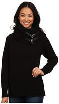 MICHAEL Michael Kors Removeable Buckle Cowl Neck Poncho