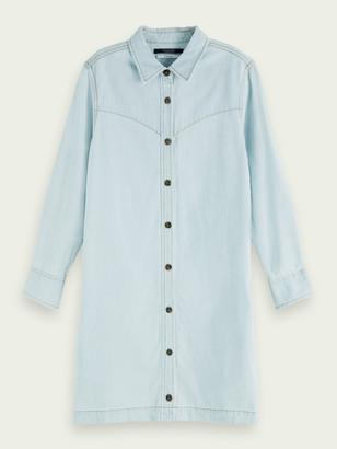 Scotch & Soda 100% cotton long sleeve denim shirt dress | Women