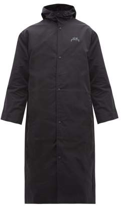 A-Cold-Wall* A Cold Wall* Logo Printed Longline Hooded Raincoat - Mens - Black