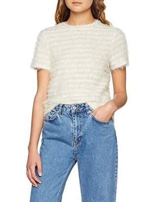 New Look Women's Stripe Fluffy T-Shirt,(Size:)