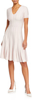Zac Posen V-Neck Short-Sleeve Knit Dress