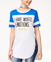 Freeze 24-7 Juniors' Mixed Emotions Graphic Tunic T-Shirt