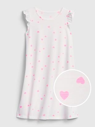 Gap Kids Recycled Heart Print PJ Dress