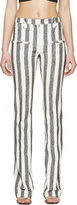 Altuzarra Black & Ivory Striped Trousers