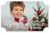 Minted Merry Christmas Script Custom Stickers