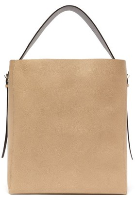 Valextra Medium Grained-leather Tote Bag - Womens - Beige