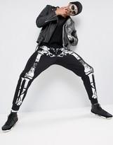 Asos Halloween Joggers With Skeleton Print