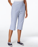 Alfred Dunner Garden Party Collection Seersucker Striped Pants