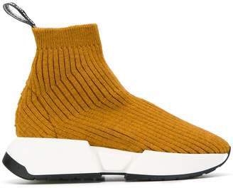 MM6 MAISON MARGIELA ribbed sock sneakers