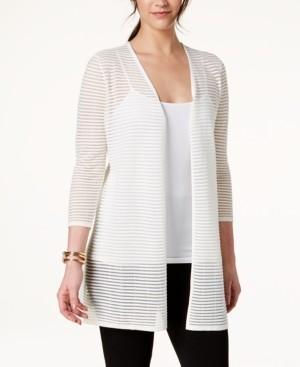 Alfani Illusion-Stripe Cardigan, Created for Macy's