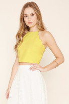 Forever 21 FOREVER 21+ Scalloped Crop Top