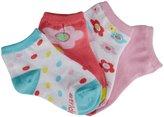 Stride Rite 4 Pack Floral Quarter Socks (Kid) - Medium Pink-7-10 Years
