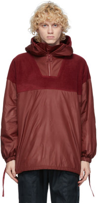 paria /FARZANEH Burgundy Fleece Pullover Jacket