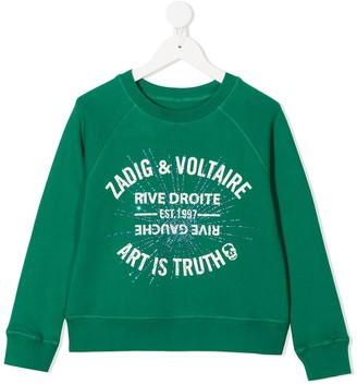 Zadig & Voltaire Kids Printed Logo Sweatshirt