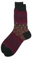 Ayame Double Checker Wool Socks