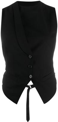 Ann Demeulemeester Asymmetric Cropped Waistcoat