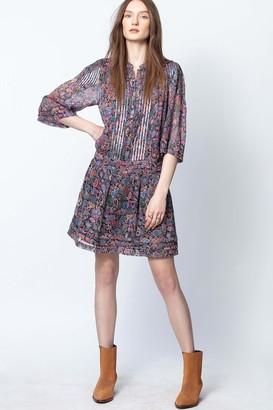 Zadig & Voltaire Rimo Print Mandala Dress