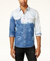 GUESS Men's Bleached Western Shirt