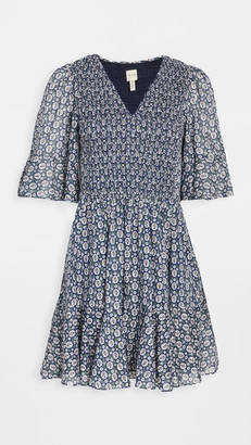 La Vie Rebecca Taylor Short Sleeve Petula Smocked Dress