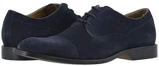 Stacy Adams Winslow Cap Toe Oxford (Navy Suede) Men's Shoes