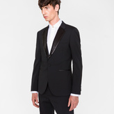 Paul Smith Men's Tailored-Fit Black Stretch-Wool Sequin-Lapel Evening Blazer