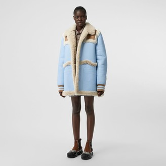 Burberry Two-tone Leather and Shearling Coat