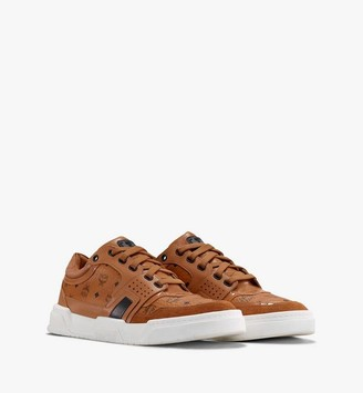MCM Men's Skyward Low-Top Sneakers in Visetos