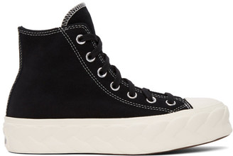 Converse Black Suede Cable Chuck Lift High Sneakers