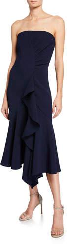 Shoshanna Levanzo Strapless Midi Dress