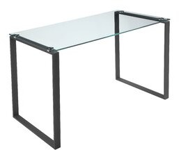 Helen Glass Desk Orren Ellis Color: Black