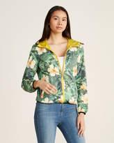 Gaudi' Gaudi Tropical Print Hooded Reversible Jacket